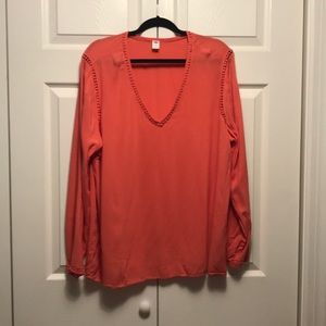 Long sleeve salmon blouse from Old Navy